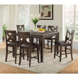 Elements International Cooper Ridge Counter Height Table and Chair Set