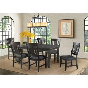 Elements International Alexander Dining Table & 6 Side Chairs