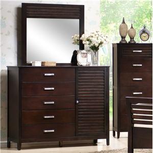 Lansing 6 Drawer Dresser And Mirror Set