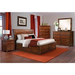 Elements International Dawson Creek 4 Piece Queen Bedroom