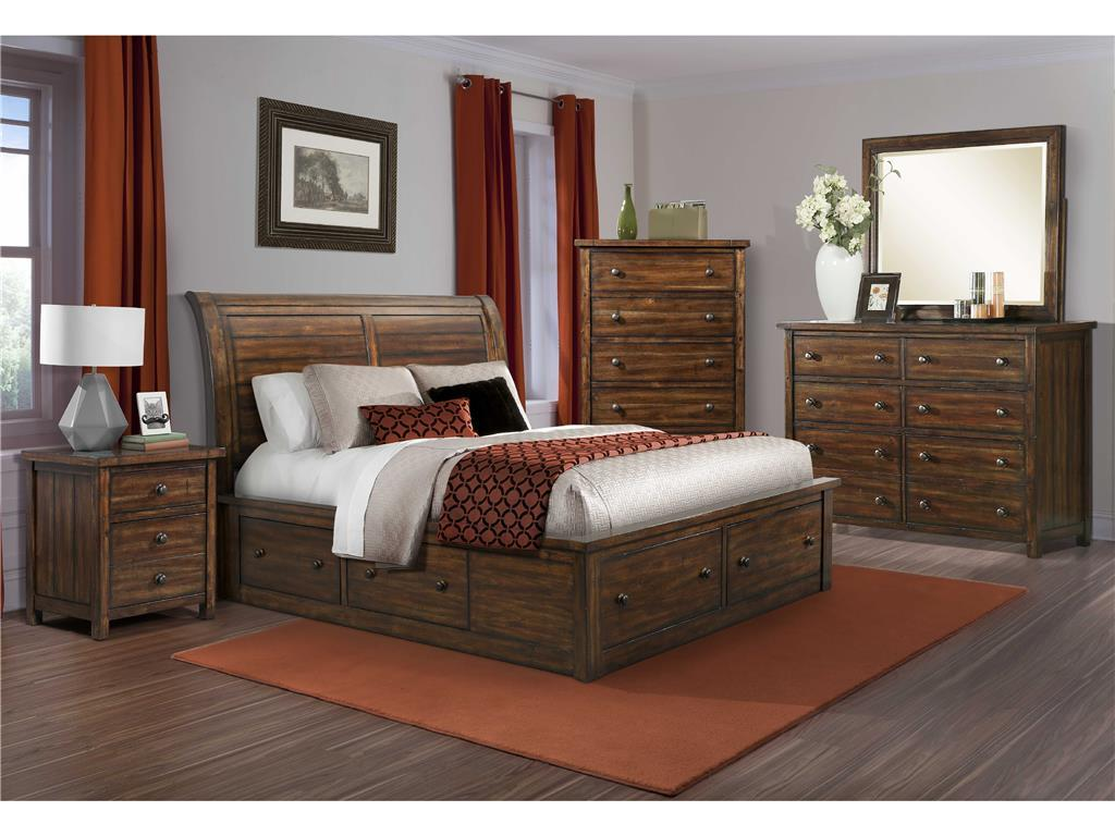 Elements International Boardwalk Queen Bedroom Group - Item Number: DS Q Bedroom Group 2