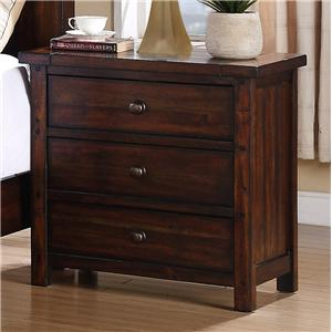 Elements International Boardwalk Night Stand