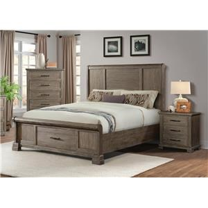 King Storage Bed & Nightstand