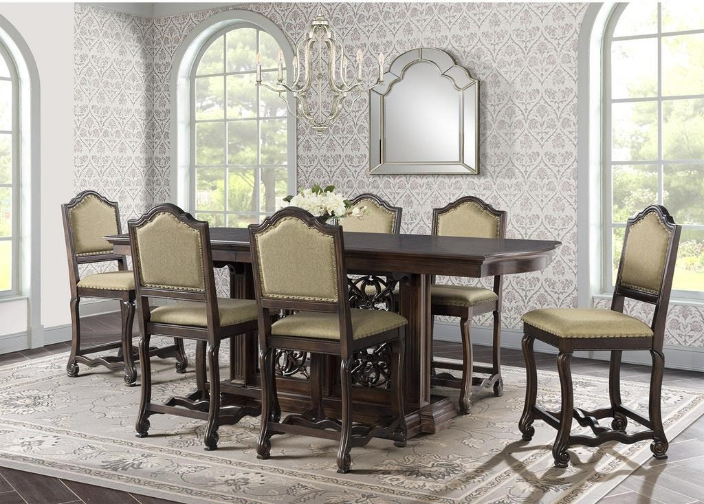 Counter Table & 6 Counter Chairs