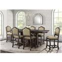 Elements International Chelsey Counter Table & 6 Counter Chairs - Item Number: GRP-DCL100-TBL6