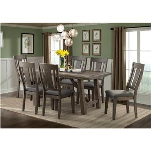 Elements International Cash Dining Table & Chair Set