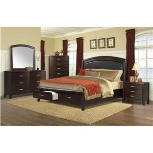 Elements International Delaney Cal King Bedroom Group