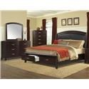Elements Delaney King 5 Piece Bedroom Group - Item Number: DL600 King 5 Pc Group