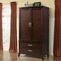 Elements International Delaney Armoire - Item Number: DL600AB+DL600AT