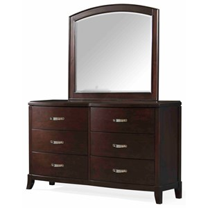 Elements International Delaney Dresser and Mirror