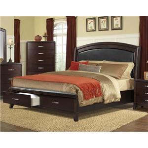 Elements International DELANEY Queen Storage Bed