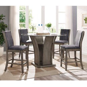 Elements International Destin Counter Height Dining Set