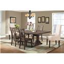 Elements International Finn Dining Table, 4 Side Chairs & 2 Parsons Chai - Item Number: ELEM-GRP-DFN100-TBL 6
