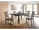 Elements International Nathan Table & 6 Side Chair Set - Item Number: GRP-DNH-TABLE 6