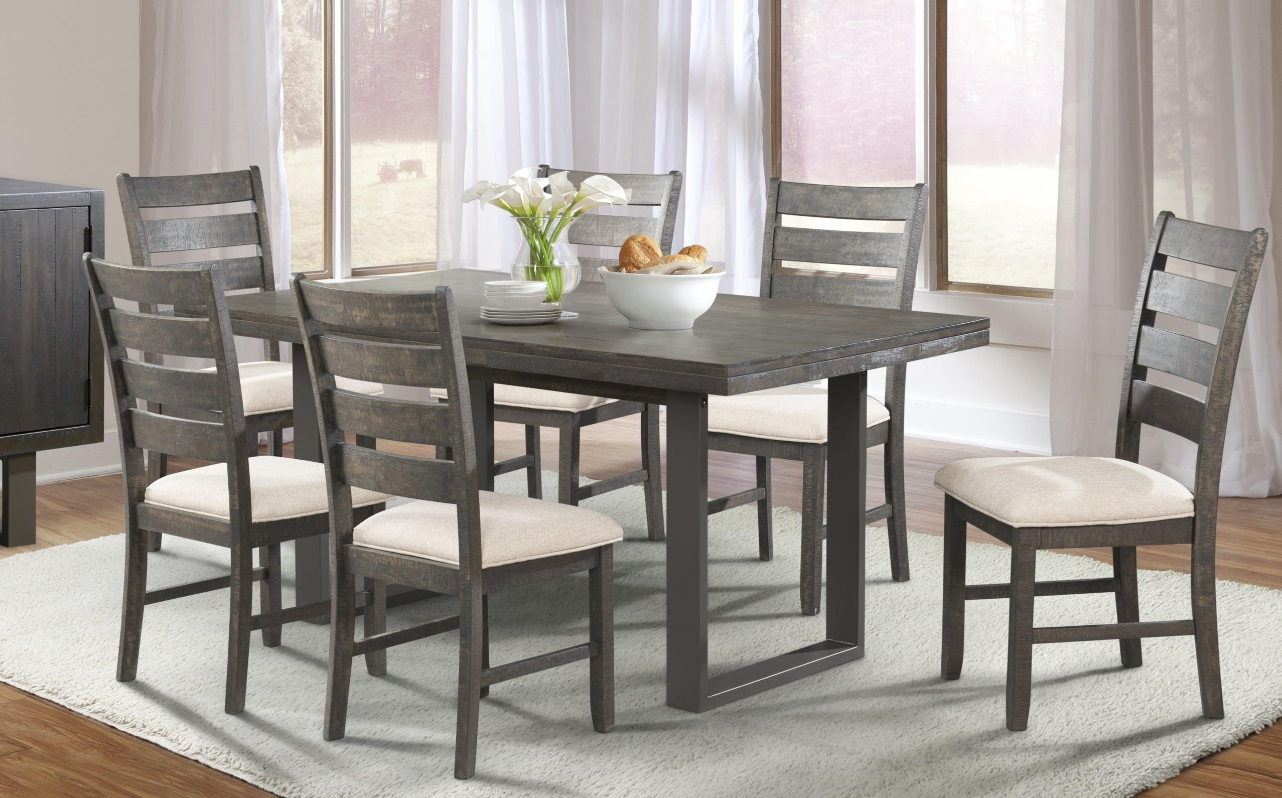 Elements International Sawyer Dining Table & 6 Side Chairs - Great ...