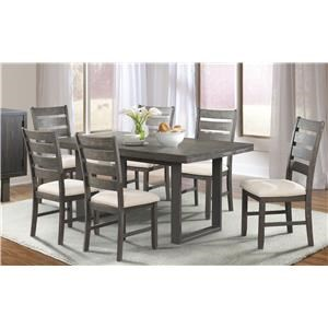 Elements International Sawyer Dining Table & 6 Side Chairs