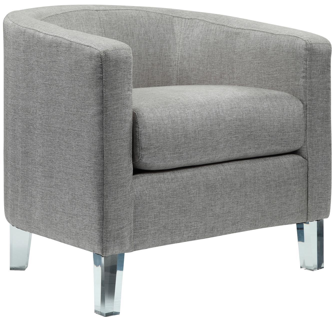 Elements International Durian Accent Chair - Item Number: U748xx109-Heirloom Gray