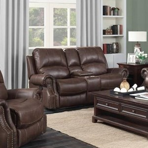 Elements International Emerson Upholstery Reclining Loveseat