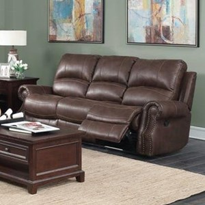 Elements International Emerson Upholstery Reclining Sofa