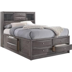 Elements International Emily Queen Storage Bed
