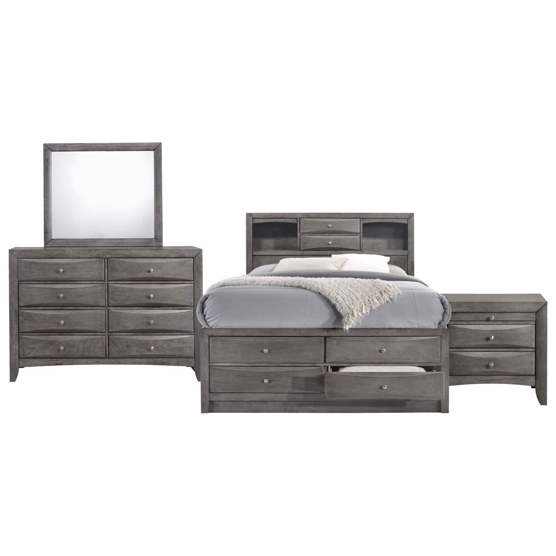 Emily Queen Bedroom Group by Elements International at Beck's Furniture