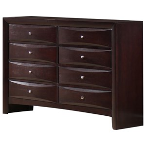 Elements International Emily 8 Drawer Dresser