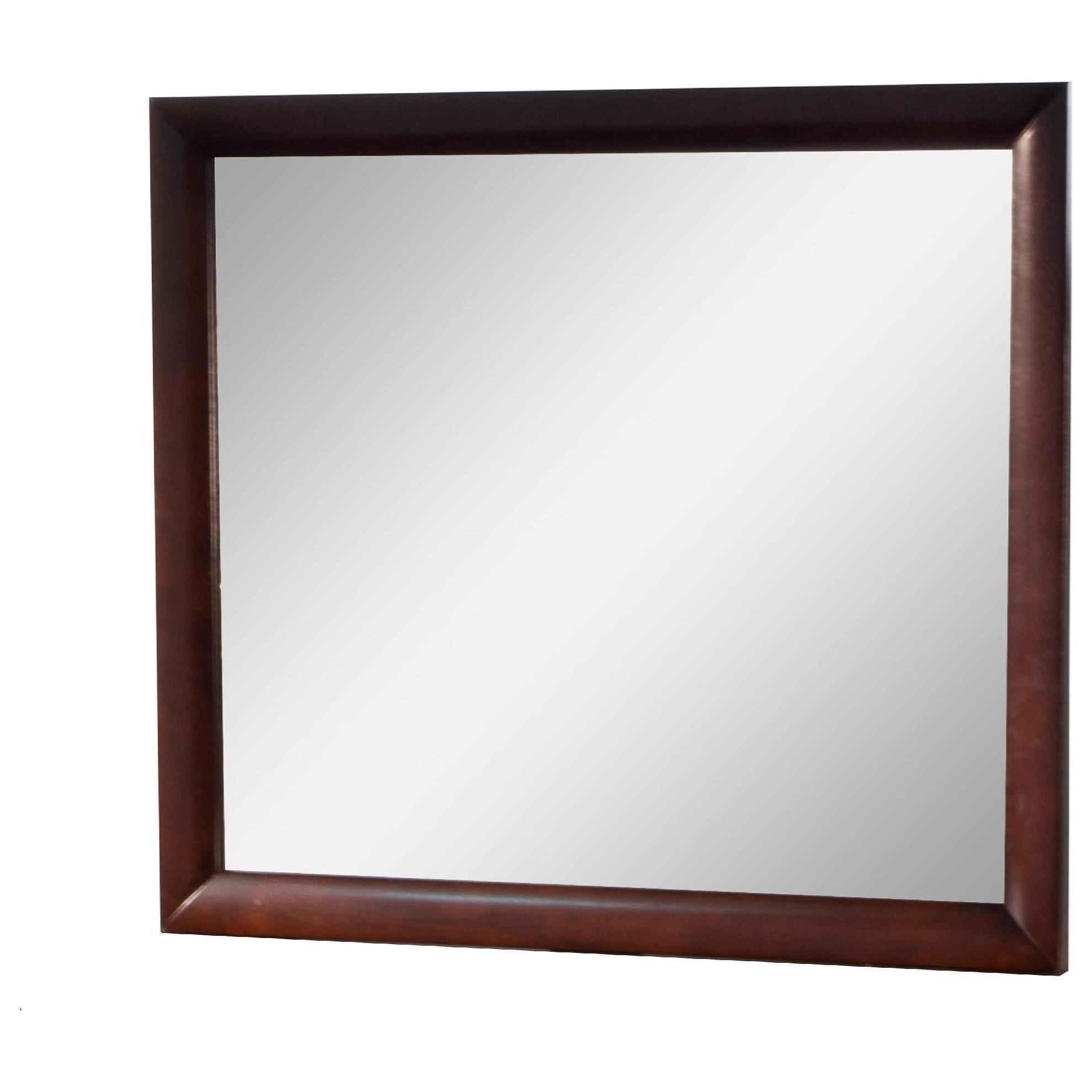 Elements International Emily Mirror with Wood Frame - Item Number: EM200MR