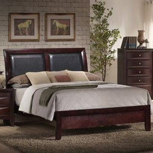 Elements International Emily Queen Upholstered Bed