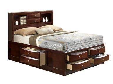 Elements International Emily Full Storage Bed - Item Number: EM300FHG