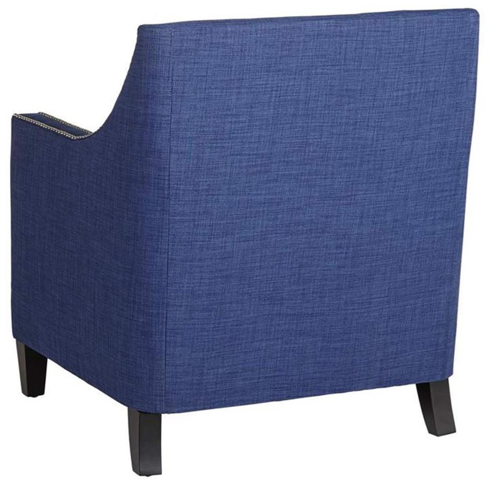 Elements International Erica Chair with Chrome Nails - Royal Furniture - Upholstered Chairs