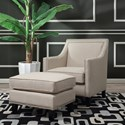 Elements Erica Chair & Ottoman Set - Item Number: UER0822PC