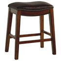 """Elements Fiesta 24"""" Backless Counter Height Stool - Item Number: LFS100CSTBR"""