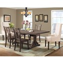Elements Finn Table and Chair Set - Item Number: DFN100DT+DB+2PC+4xSC