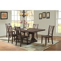 Elements International Finn Table and Chair Set - Item Number: DFN100DT+DB+6xSC