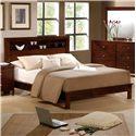 Elements International Fleming Full Bookcase Bed - Item Number: FM375FB