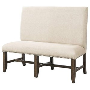 Elements International Franklin Fabric Back Bench