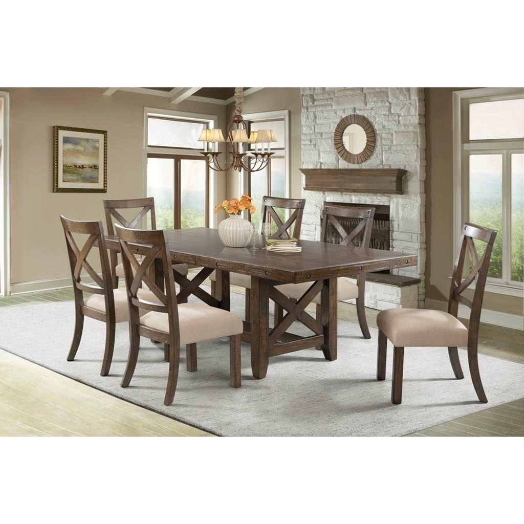 John V Schultz Dining Room Table Of Elements International Franklin Dfk100dt Rustic Dining