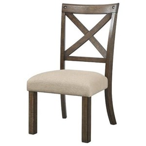 Elements International Franklin X-Back Side Chair