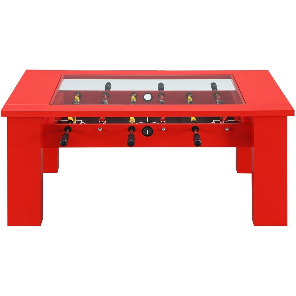 Elements International Giga Foosball Coffee Table With Game Pieces Included Lindy S Furniture Company Cocktail Coffee Tables