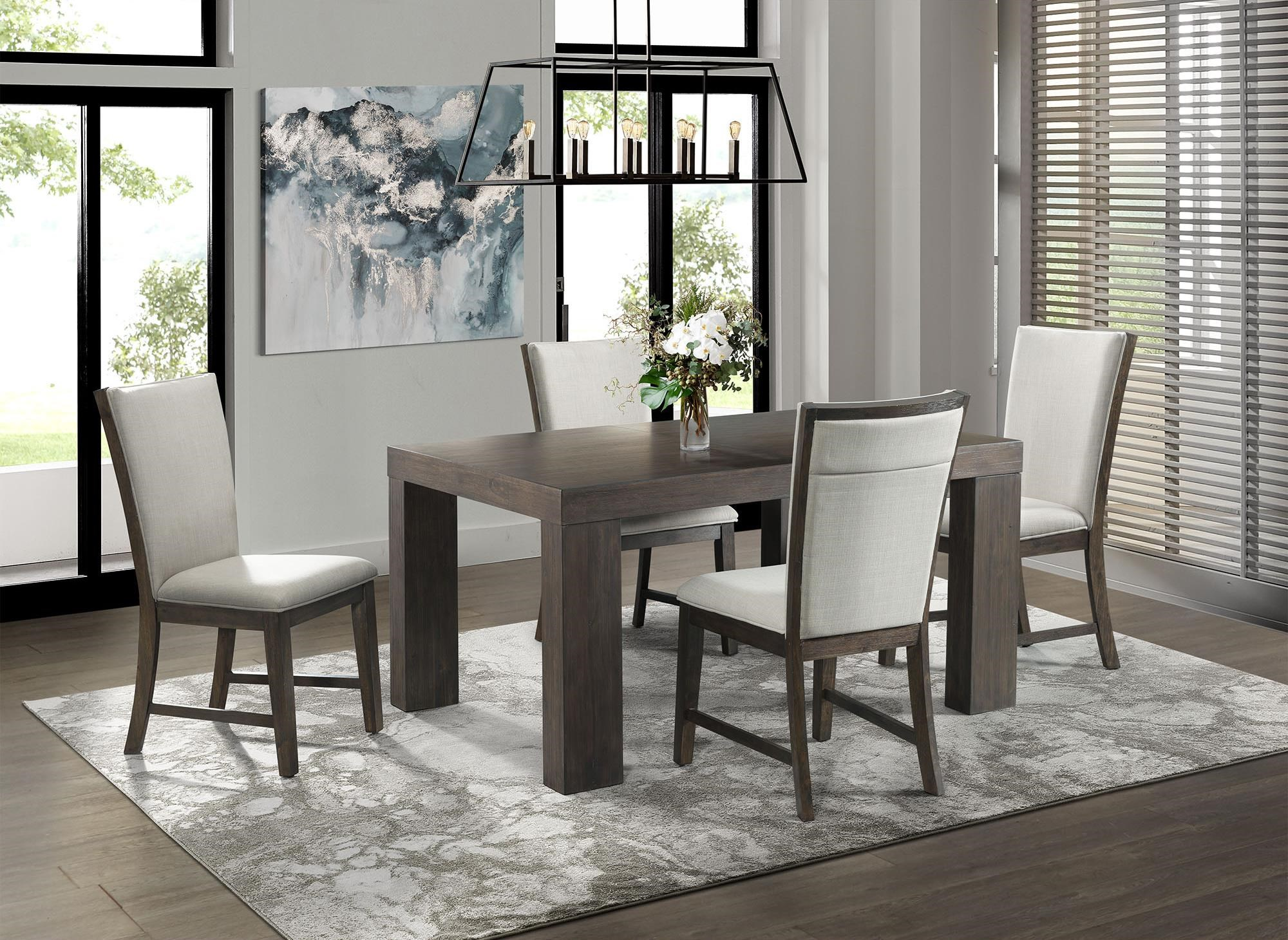 Grady Dining Table Set with 4 chairs by Elements International at Johnny Janosik