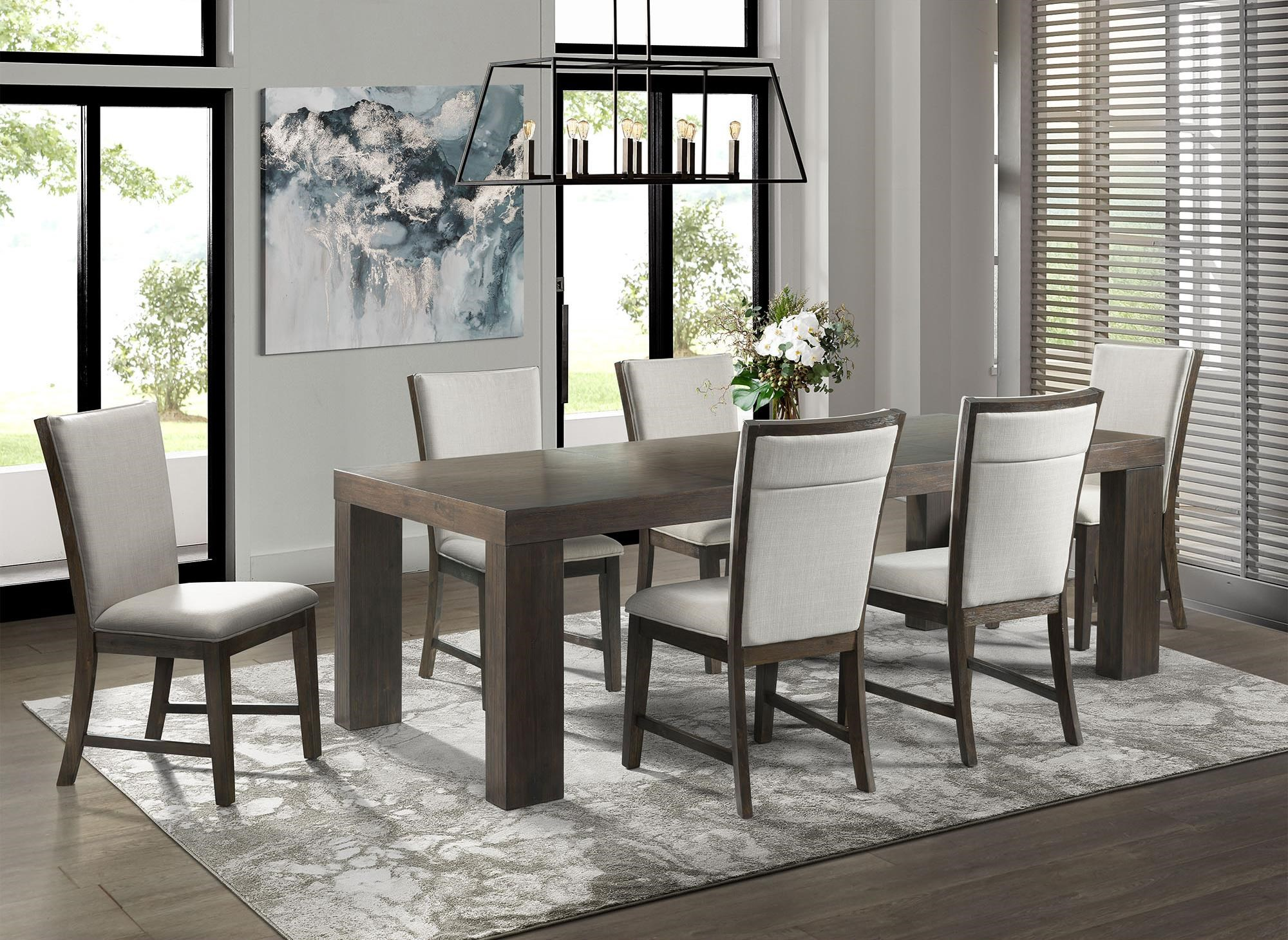 Grady Dining Table Set with 6 chairs by Elements International at Johnny Janosik
