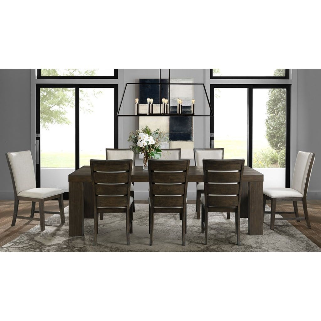 Grady Dining Table Set with 8 Chairs by Elements International at Johnny Janosik