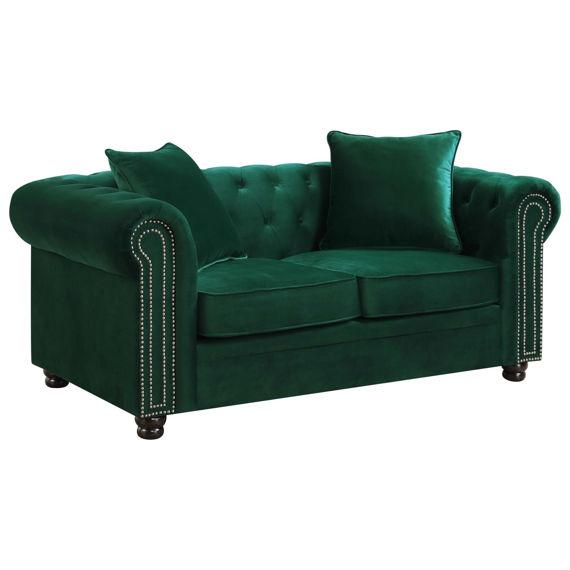 Marvelous Greenwich Transitional Chesterfield Loveseat With Nailhead Trim By Elements At Royal Furniture Onthecornerstone Fun Painted Chair Ideas Images Onthecornerstoneorg