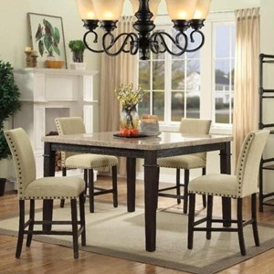 Elements International Greystone Table and Chair Set
