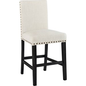 Elements International Greystone Counter Height Stool