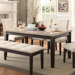 Elements International Greystone Dining Table