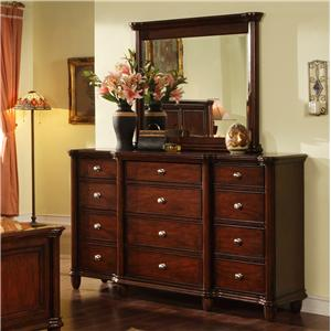 Morris Home Furnishings Lockport Dresser & Mirror
