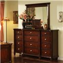 Morris Home Furnishings Lockport 12 Drawer Dresser - Shown with Mirror