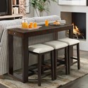 Elements International Hardy Counter Height Bar Table Set - Item Number: THY100BTSPE