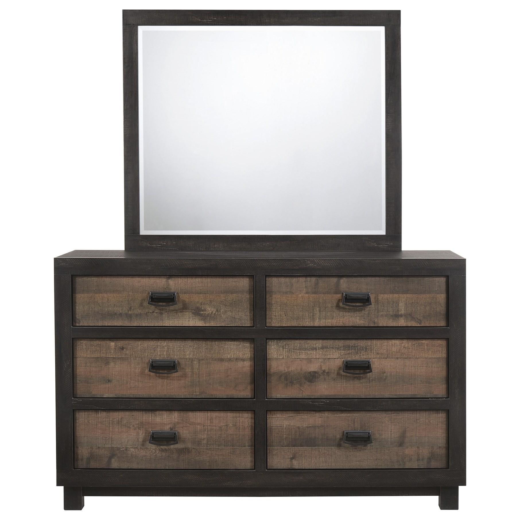 6-Drawer Dresser w/ Mirror Set